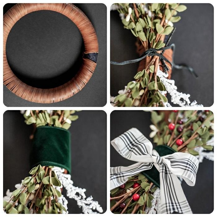 1 basteln für weihanchten diy ideen und anleitungen türkranz kranz selber machen weihnachtsdeko diy