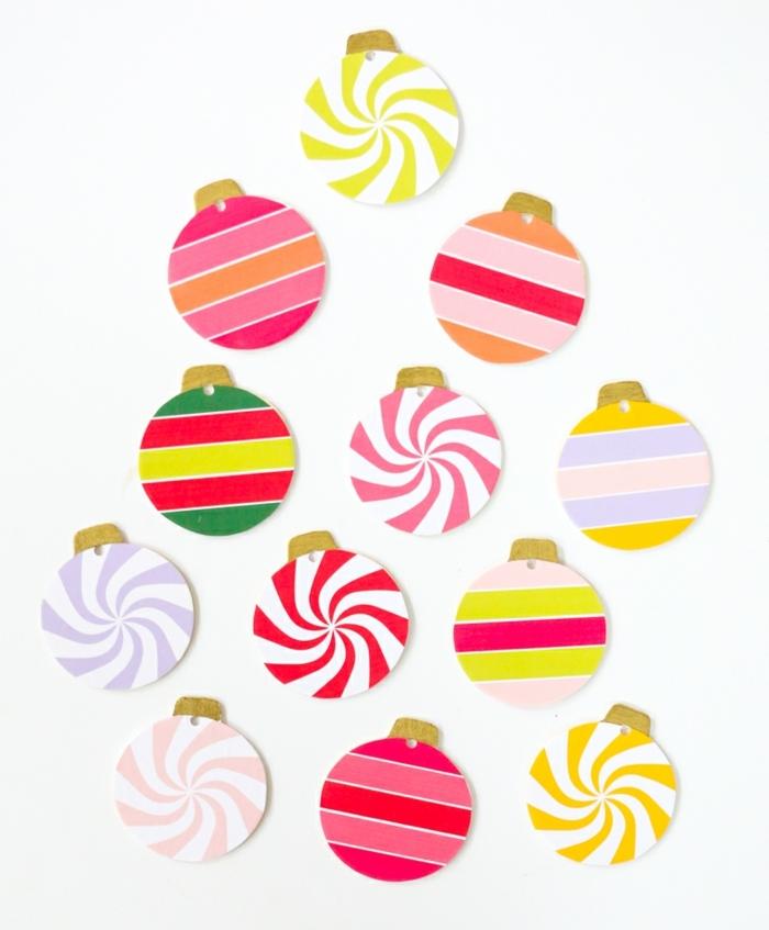 1 weihnachtsbasteln mit kindern bunte weihanchtskugeln bastelideen zu weihnachten diy anleitungen und ideen