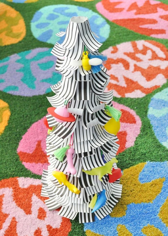 3 basteln mit kindern weihnachten und winter weihnachtsbaum selber machen papierbaum anleitung ideen