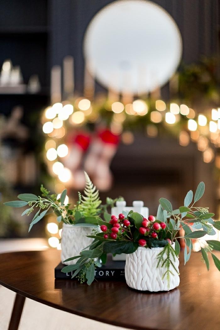 außgefallene weihnachtsdeko selber machen tischdeko ideen zu weihnachten winterdeko tisch