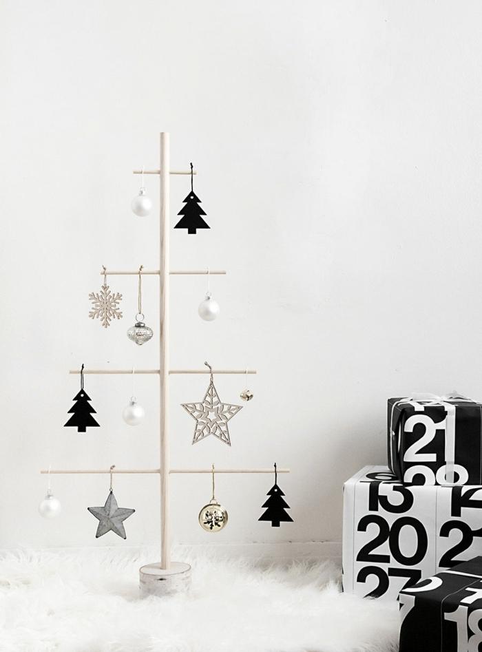 außgefallene weihnachtsdeko selber machen weihanchtsbaum basteln alternativer tannenbaum zum fest moderne winterdeko