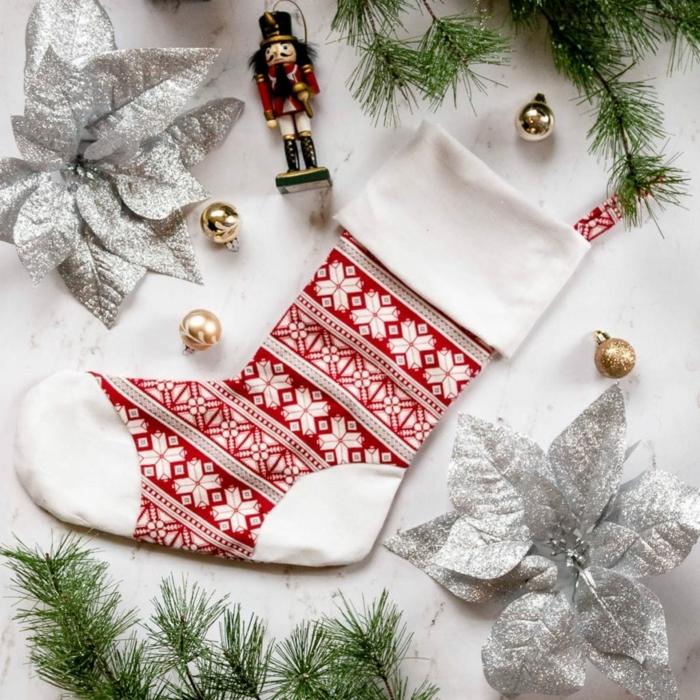 bastelideen für weihanchten weihanchtssocke nähen diy anleutungen und ideen weihnachtsgeschenke selbstgemacht
