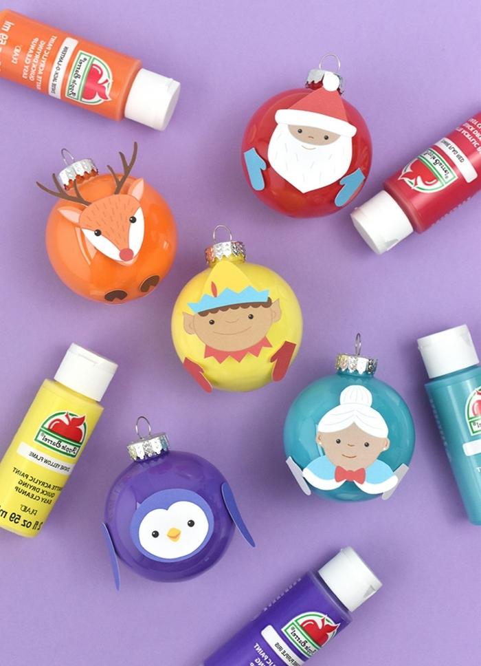 bastelideen für weihnachten diy ideen festliche deko weihanchtskugel dekorieren vorlagen frei hochladen