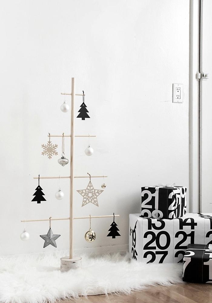 bastelideen weihnachten einfach alternativer weihnachtsbaum tannenbaum selbst basteln schritt für schritt winterdeko