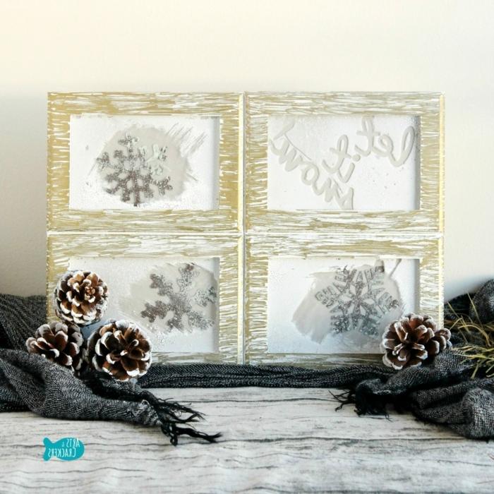 bastelideen weihnachten einfach diy ideen winterdeko selber machen bilder schneeflocken