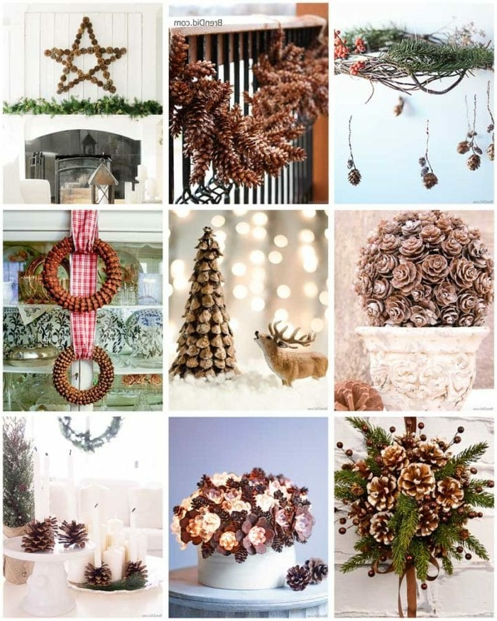 bastelideen weihnachten einfach ideen und anleitungen basteln mit tannenzapfen für den winter winterdeko