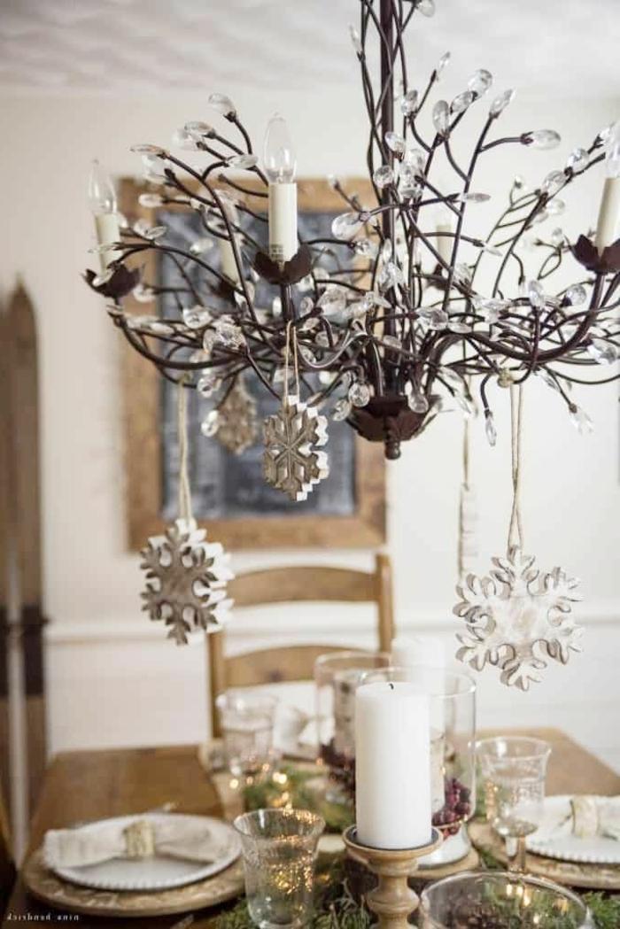 bastelideen weihnachten einfach tischdeko für den winter winterdeko in rustikalem stil tisch dekorieren