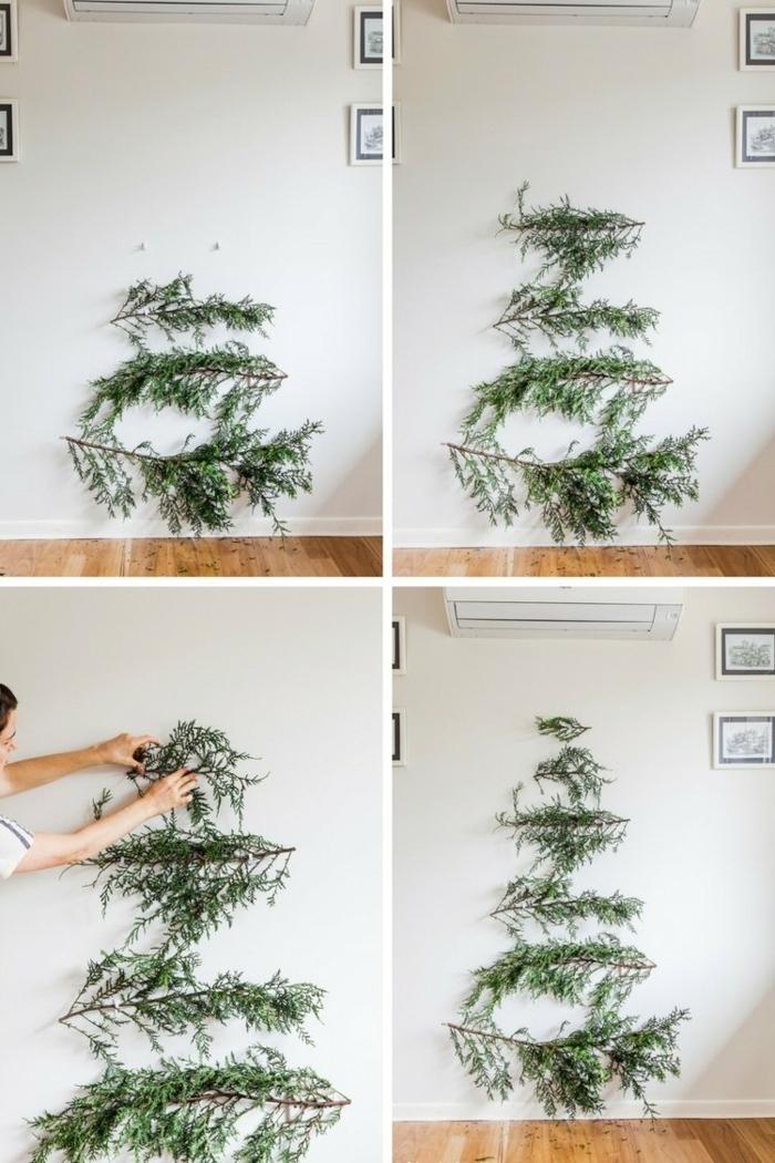 bastelideen weihnachten einfach weihnachtsdeko ideen alternativer tannenbaum winterdeko schnell schritt für schritt