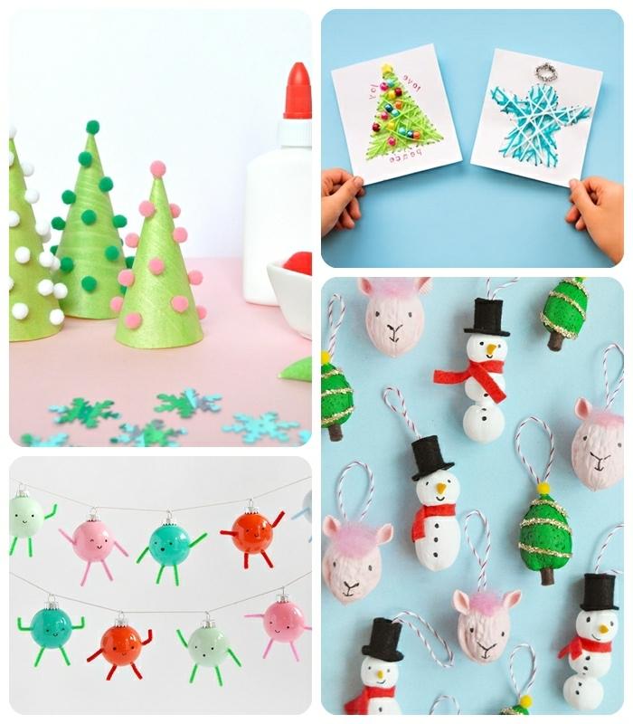 basteln für weihnachten weihanchtsbasteln ideen archzine tannenböume aus papierkegel weihnachtskarten diy ideen weihanchtsschmuck schneemänner girlande aus weihnachtskugeln