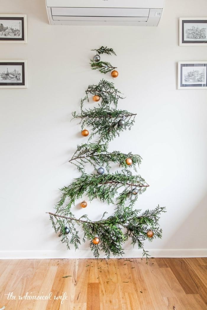 basteln mit kindern winter alternativer weihnachtsbaum winterdeko ideen einfaches tutorial tannenbaum