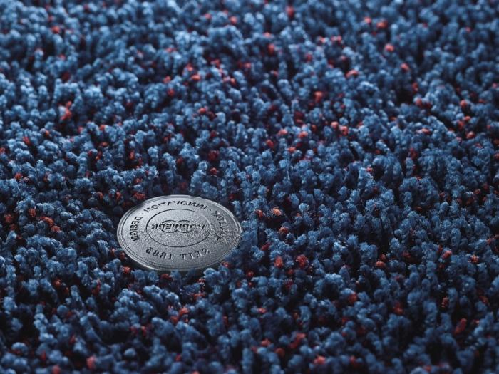 blauer teppich wohnung einrichtung teppich günstig kaufen teppichboden meterware