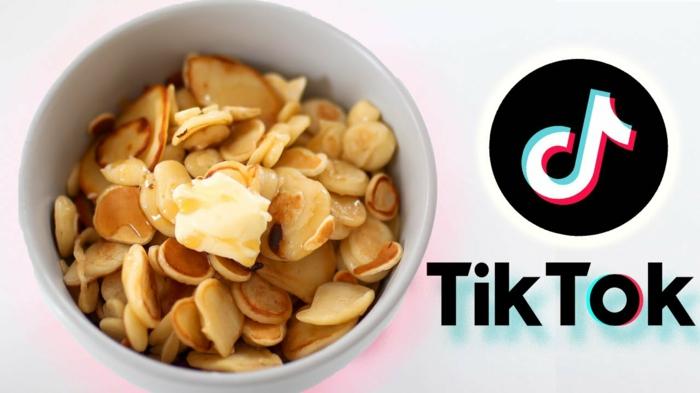cereal pancake kleine pfannkuchen müsli tiktok kuchen trends inspiration diy rezept leicht und schnell