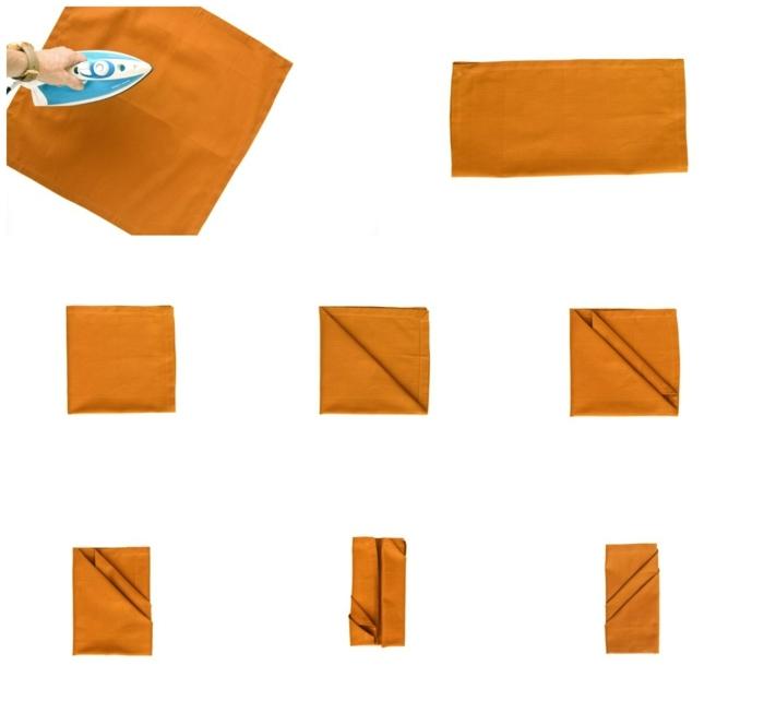 collgage anleitung schritt für schritt servietten falten einfach diy erklärung kreative tischdeko selber machen