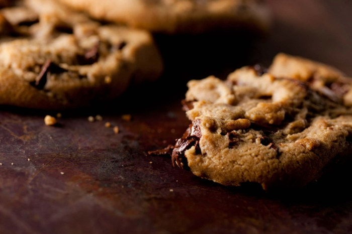 cookies mit weniger kalirien schokoladen kekse gesund low carb rezept mit schokochips