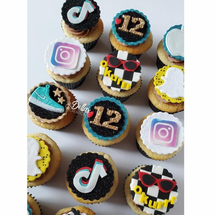 dekoration cupcakes instagram sneaker tiktok deko inspiration kuchen für geburtstag social media inspo