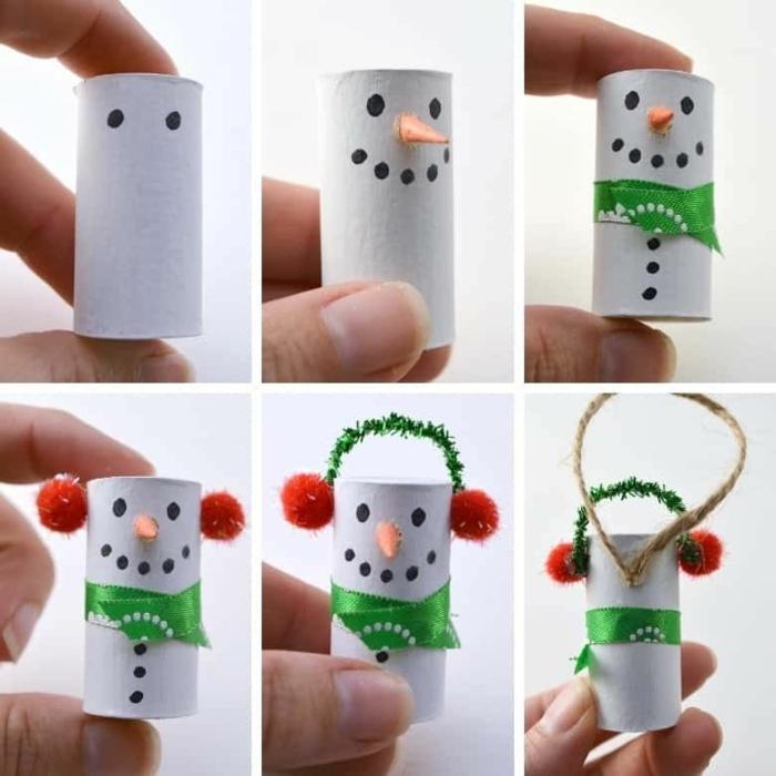diy anleitung schritt für schritt schneemann aus ton selber basteln weihnachtsbaum dekoration ideen und inspiration