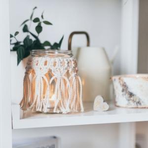 Makramee Windlicht - eine uralte Kunst für das moderne Zuhause