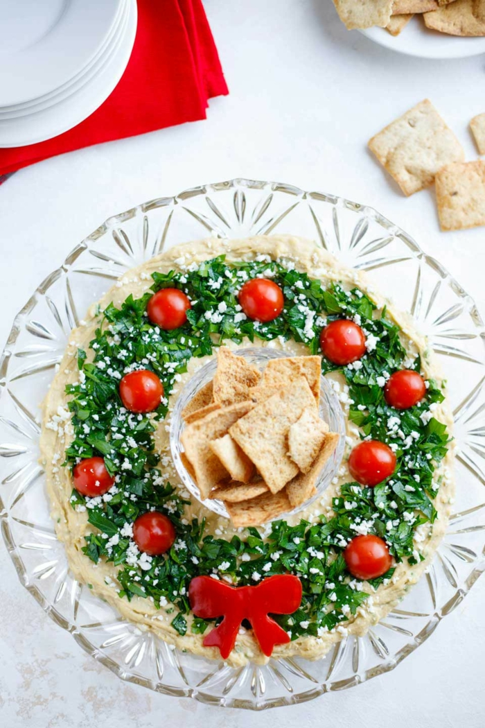 "appetizers for christmas best of easy christmas appetizer ""hummus wreath"" two healthy"