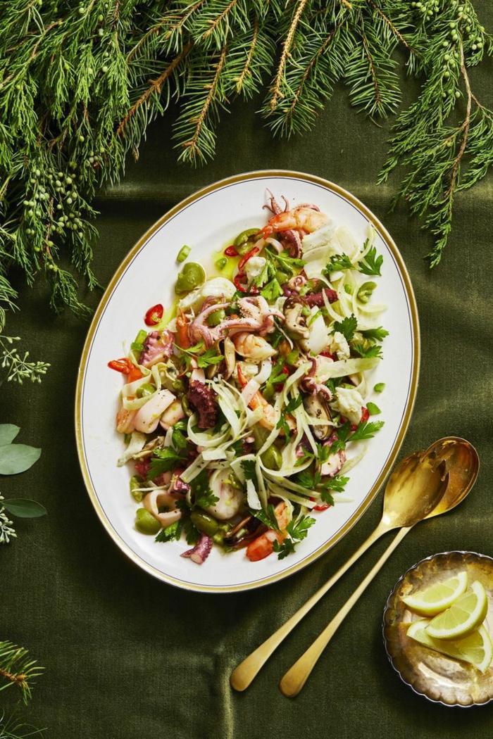 festliche vorspeisen gut vorzubereiten schnelle und einfache vorspeisen salat mit meerfrüchten