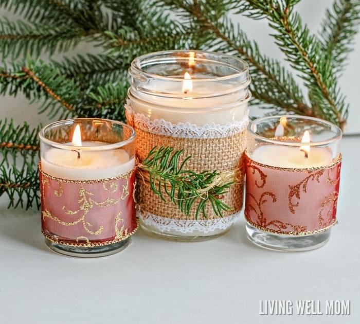 geschenke selber machen kreative geschenkideen diy bastelideen zu weihanchten kerzen duftkerzen