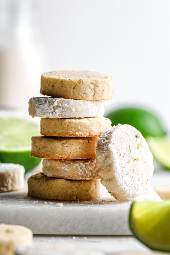gesunde kekse rezepte lime kokosöl vanille vegan gluten frei