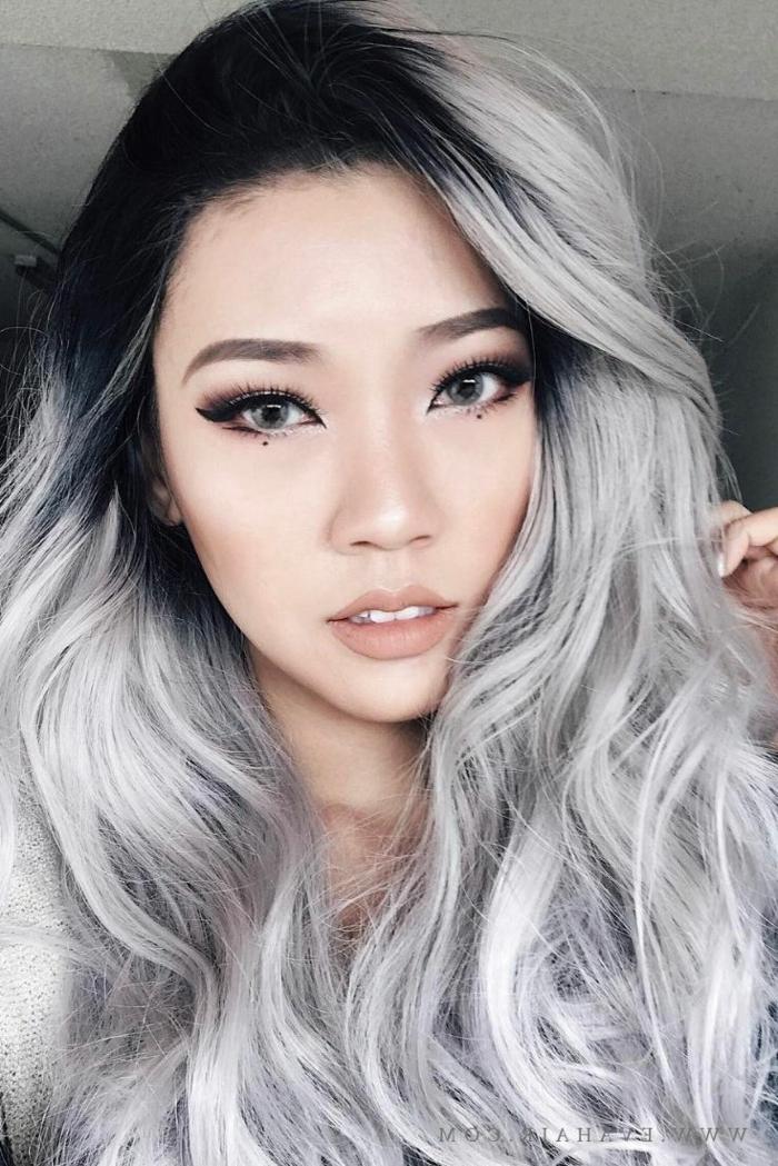 graue haare eine frisur mit lagem haar für damen grauen haare pflegen