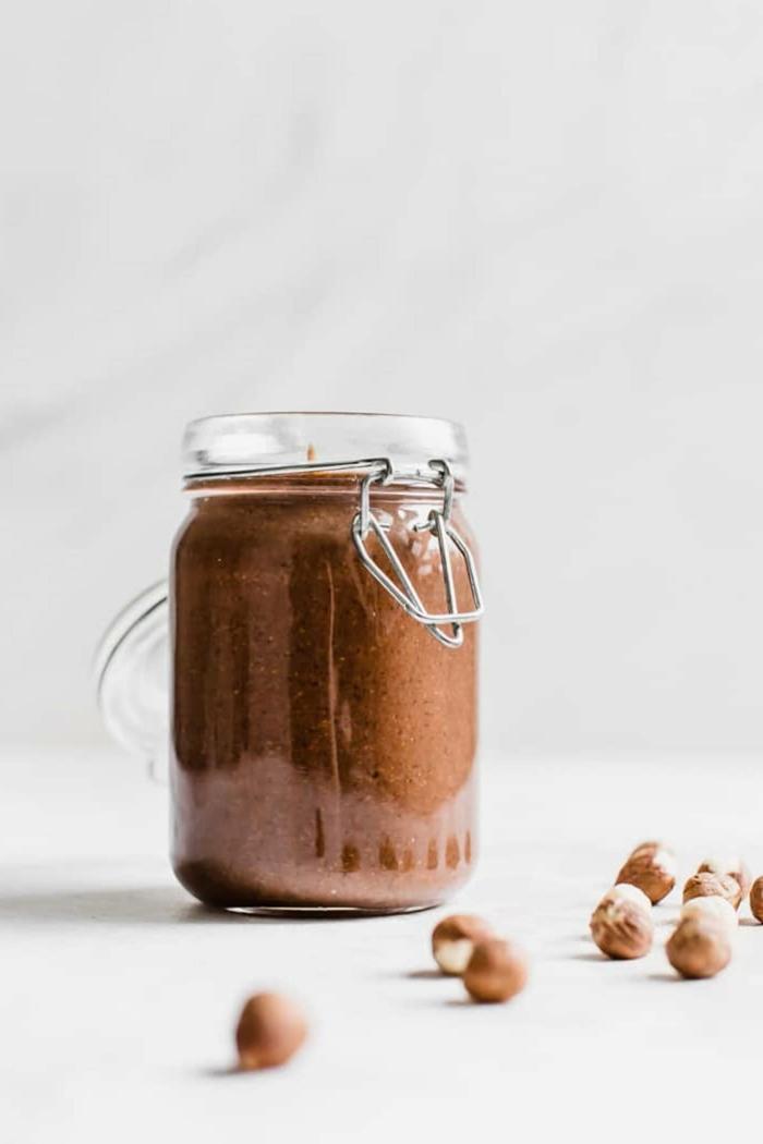 haselnüsse nutella alternative ein veganes nutella selber machen glas mit nutella