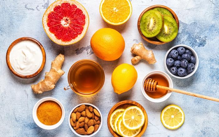 honig und brombeeren mandeln ingwer und zitronen hausmitteln für starkes immunsystem