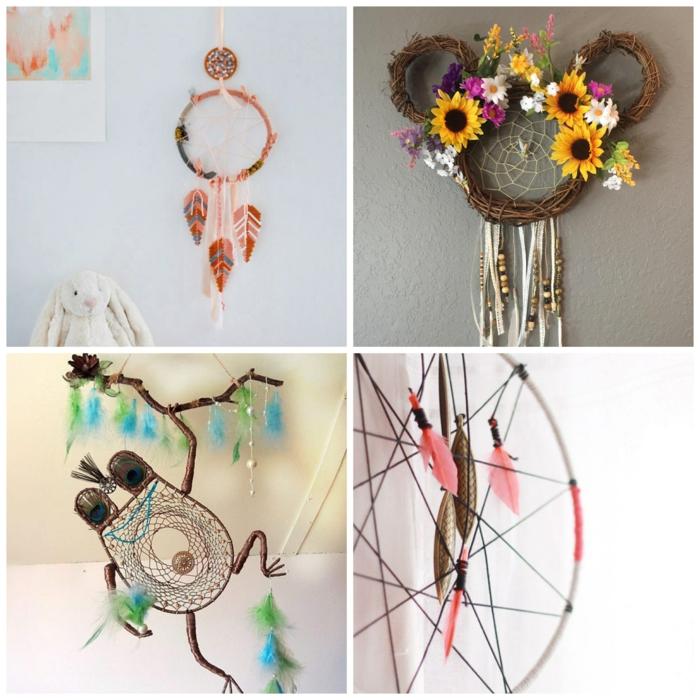 inspiration dekoration kinderzimmer einrichten disney traumfänger selber machen kreative bastelideen für kinder