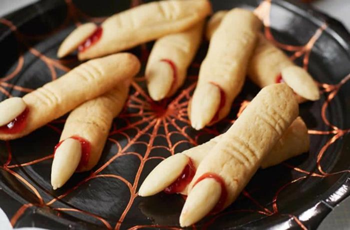 kekse mit wenig zucker halloween hexen fingern low carb kekse rezept