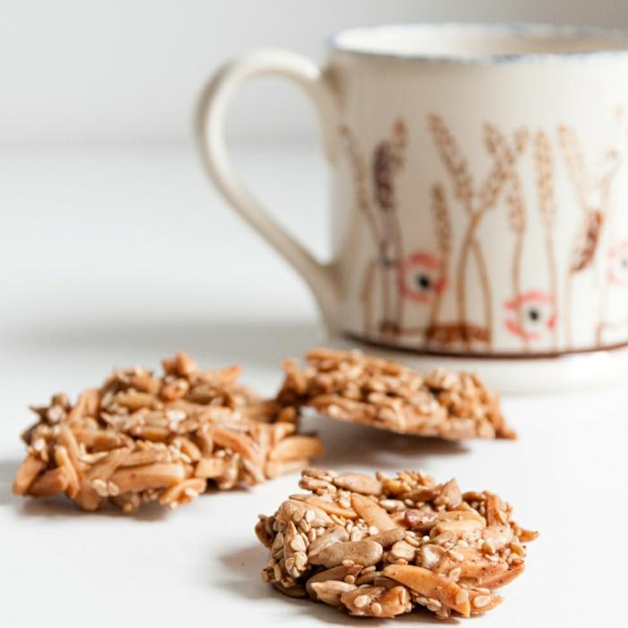 kekse mit wenig zucker low carb haferflocken müsli ohne zucker mit tee
