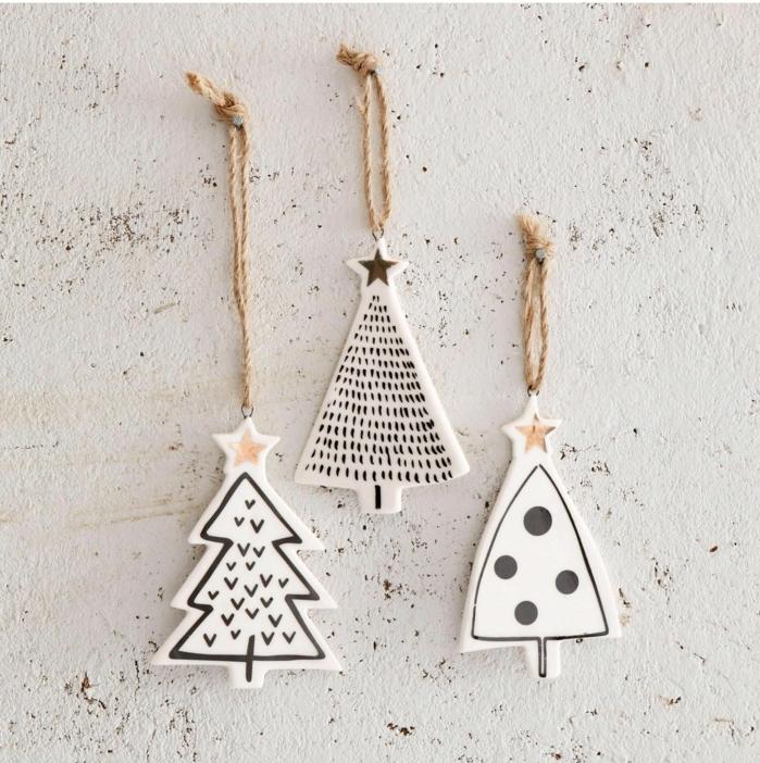 kreative bastelideen deko weihnachtsbäume aus ton weihnachtsbaum schmücken ideen modern minimalistische dekoration