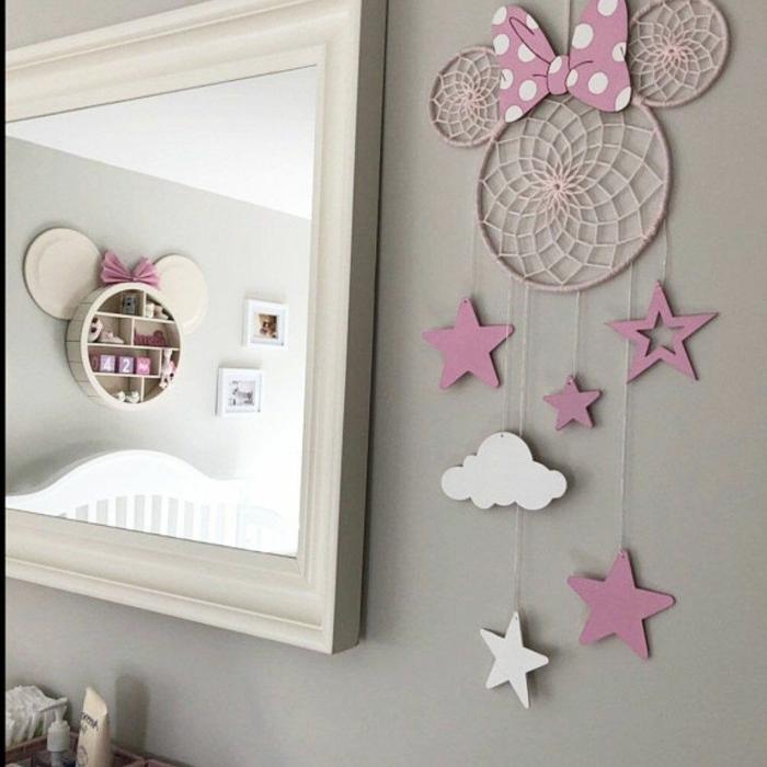 kreative dekoration kinderzimmer mädchen pinken traumfänger basteln kinder moderne inneneinrichtung mädchenzimmer pinke deko