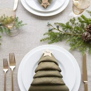 Servietten falten für Weihnachten - verblüffend schöne Ideen