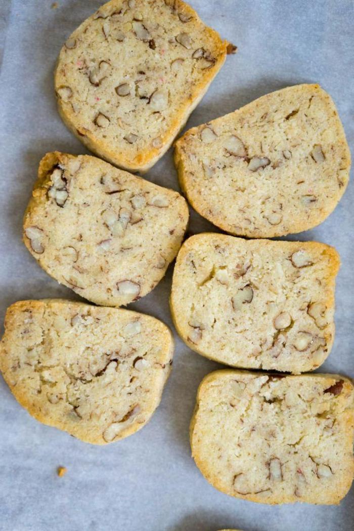 low carb kekse mit wenig kalorien pekannüsse mit kokosmehl vamilleextrakt schnell zubereiten