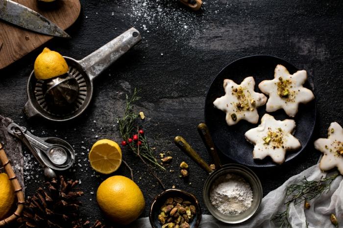 low carb rezepte weihnachten kekse mit zitronen zimt tisch mit zitronen mehl weihnachten