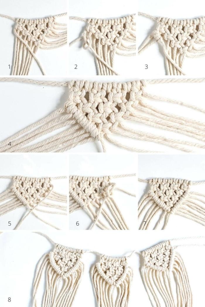 makramee vase diy anleitung kreuzknoten und doppelter schlag knoten machen