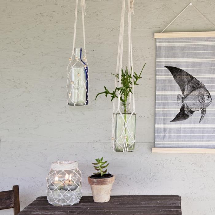 makramee windlicht diy upcycling makramee kerzenglas kerzen vasen