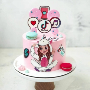 meine torte moderne pinke geburtstagstorte tiktok inspiration social media kuchen ideen inspo