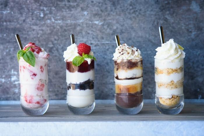 nachspeisen für weihnachten schnelle desserts im glas shots verschiedene varianten nachtisch ideen party essen