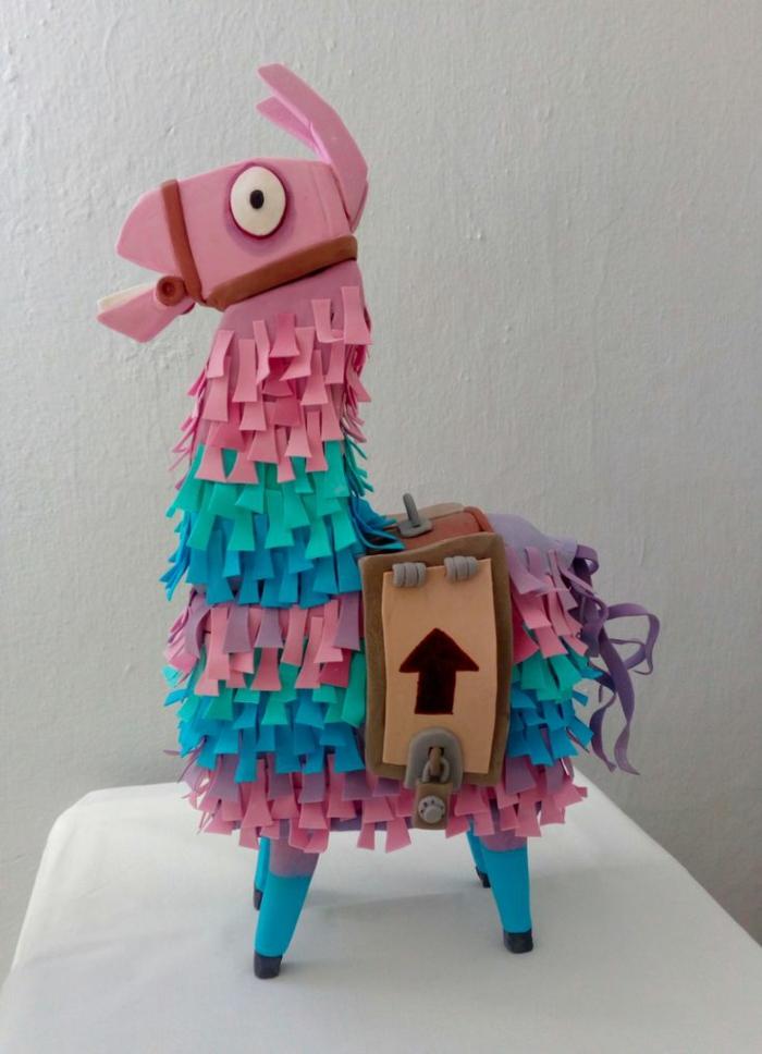pink blaue lama kuchen zum geburtstag fortnite torte inspiration lustige geburtstagstorte teenager