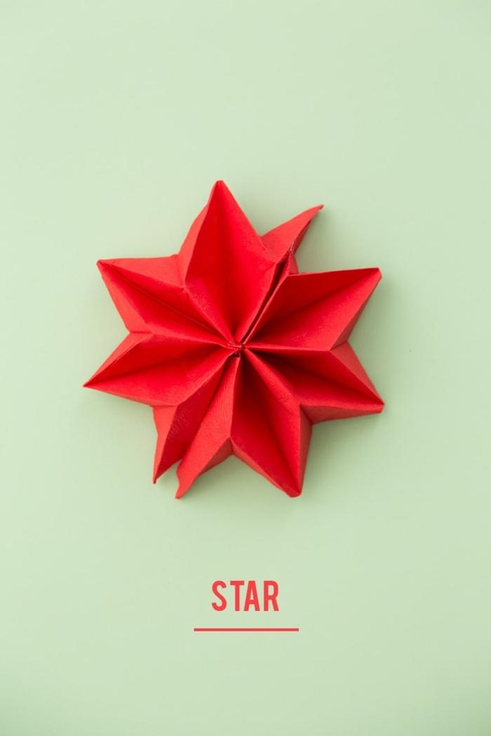 roter stern weihnachtsservietten falten weihnachten tischdeko kreativ selber machen diy anleitung schritt für schritt