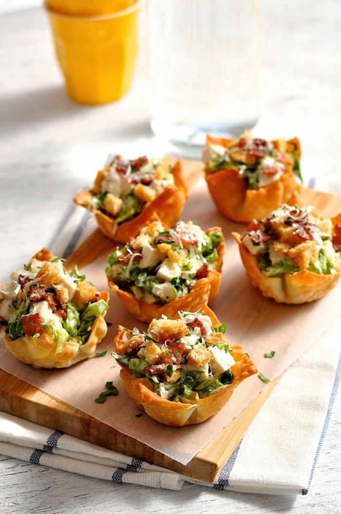 salat weihnachten vorspeise cäsar salat im blätterteig schnelle und einfache vorspeise weihnachten
