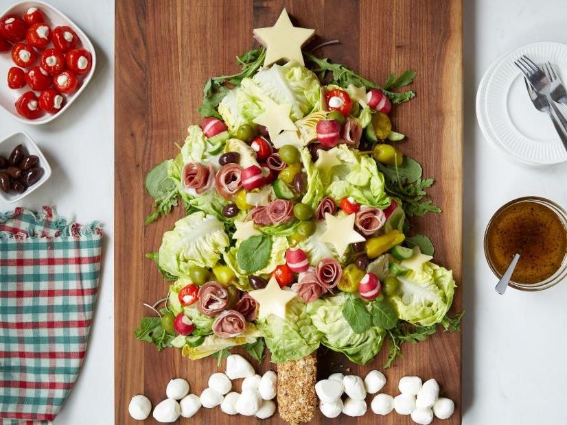 schnelle vorspeisen zum vorbereiten salat weihnachten kraut mozzarella radieschen