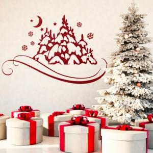 Wandtattoo Weihnachten - Schmücken Sie Ihr Haus mit Weihnachtsdekorationsvinyls