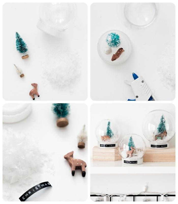 weihanchtsgeschenke selber machen kugel aus glas kleiner hirsch tannenbaum diy geschenke zu weihanchten