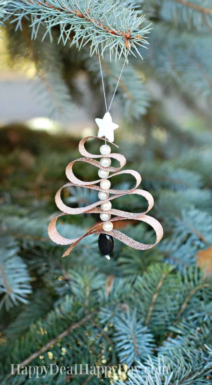 weihnachtsbaum deko selber basteln dekoration tannenbaum diy minimalistische ornamente weihnachten