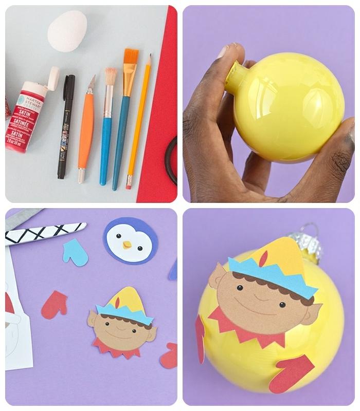 weihnachtsliches basteln mit kindern diy ideen zu weihanchten weihnachtsdeko selber machen weihnachtskugel dekroieren