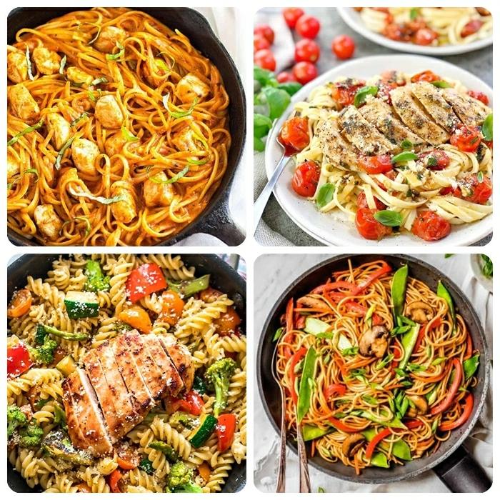 3 schnelle pasta rezepte für jeden tag abendessen ideen einfach und lecker spaghetti mit hähnchenbrust und tomaten
