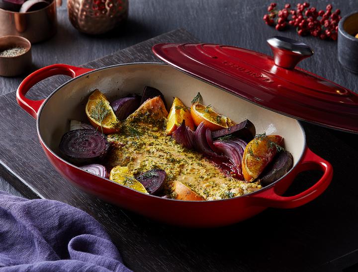 chefkoch weihnachtsessen rezepte für weihnachten hauptgang lacks mit rübe orangen und kartoffeln roter topf